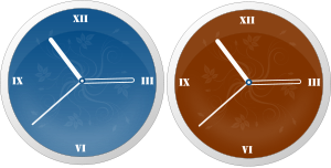 Two clock faces