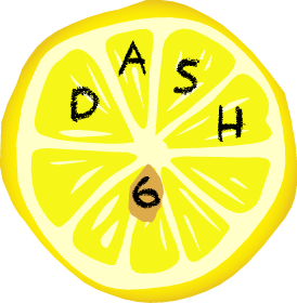 DASH 6 lemon logo