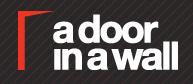 """a door in a wall"" logo"