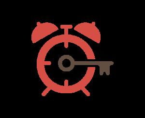 """Tick Tock Unlock"" logo"