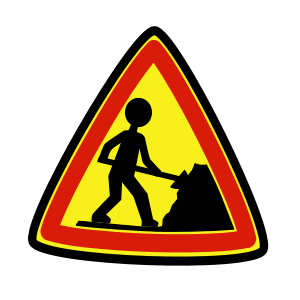 """Under construction"" road sign"