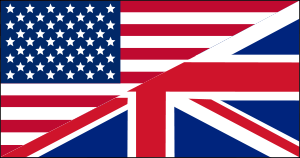 Mixed US and UK flag