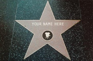 """Walk of fame"" star marked ""your name here"""
