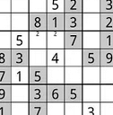 partly-filled partial sudoku grid
