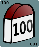 Milestone showing the number 100