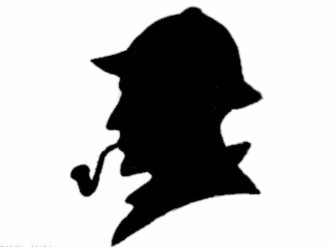 Victorian detective silhouette