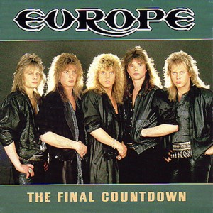 "Europe's ""The Final Countdown"" single cover"
