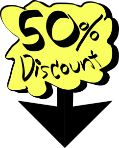 """50% discount"" graphic"