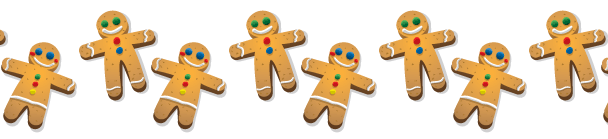 Gingerbread men banner