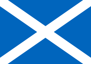 Scottish flag graphic