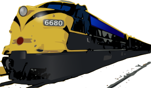 Abstract graphic of a passenger train