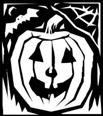 Monochrome pumpkin graphic