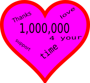 "A heart marked ""1,000,000"""