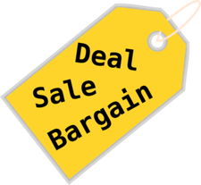 Price tag suggesting deal, sale or bargain