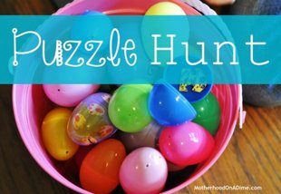 """Puzzle Hunt"" and a basket of plastic eggs"
