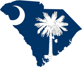 South Carolina state map