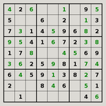 Sudoku generated by Simon Tatham's Puzzle Pack