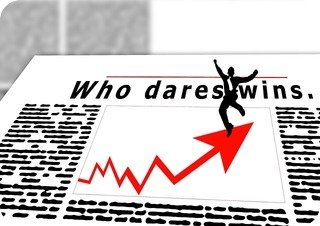 """Who dares wins"" graph"