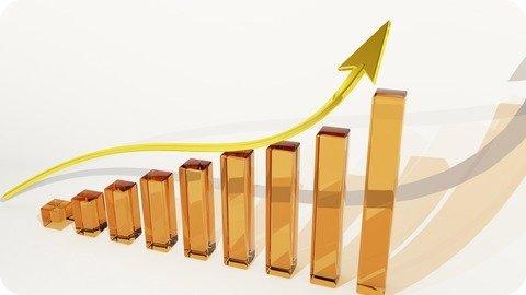 Bar chart heading upwards