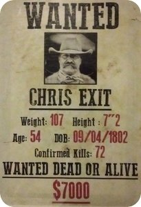 Wanted: Chris Exit