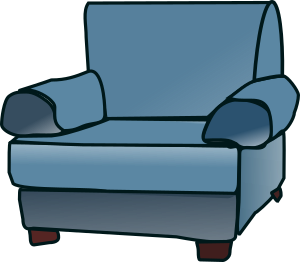 Generic blue cartoon armchair