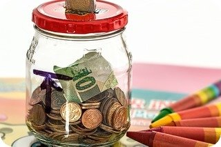 Savings jar graphic