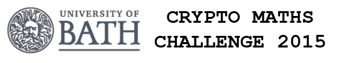 """University of Bath Crypto Maths Challenge 2015"""