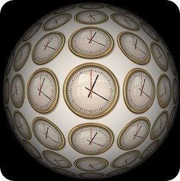 Ball of clocks
