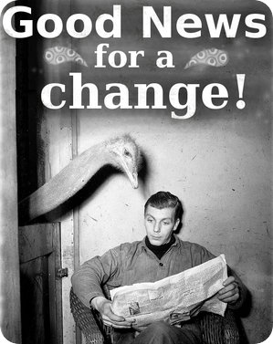 """Good News for a change!"" - adapted from Rick Warden, CC BY-NC-SA 2.0 licence"