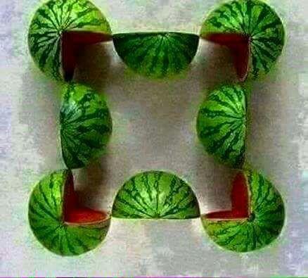 Ambiguous watermelon puzzle