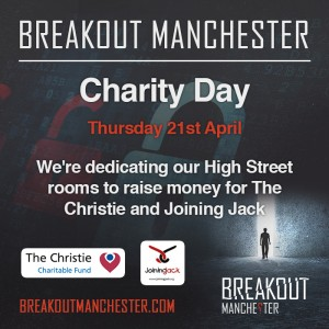 Breakout Manchester Charity Day details