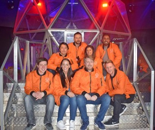 Orange Team at The Crystal Maze